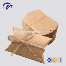 Fancy decorative printed kraft pillow shaped gift paper packing box for scarf