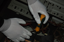 Huacai, China factory Nylon gloves with pu coat for light industrial use