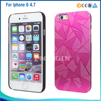 3D Water cube pattern pc bumper + aluminum metal cover for iphone 6 6s new product 2016