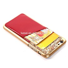 for apple iPhone 6 blank cell phone case, back cover for iPhone 6 card slot case wholesale