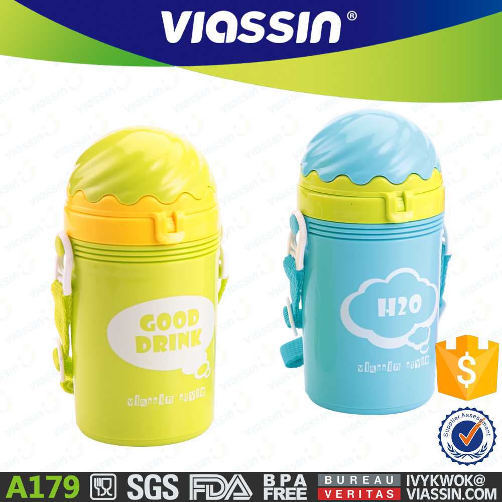 A179 plastic water bottle for baby kids 380ml BPA free shantou manufacturer