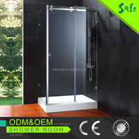 high quality stainless steel clean and simple modern glass bathroom partition SA8800-E32