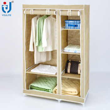 Multilayer fabric folding cloth wardrobe