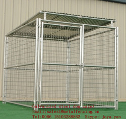 Zoo animal security cages modular dog cages fence panels dog cages galvanized steel dog cages