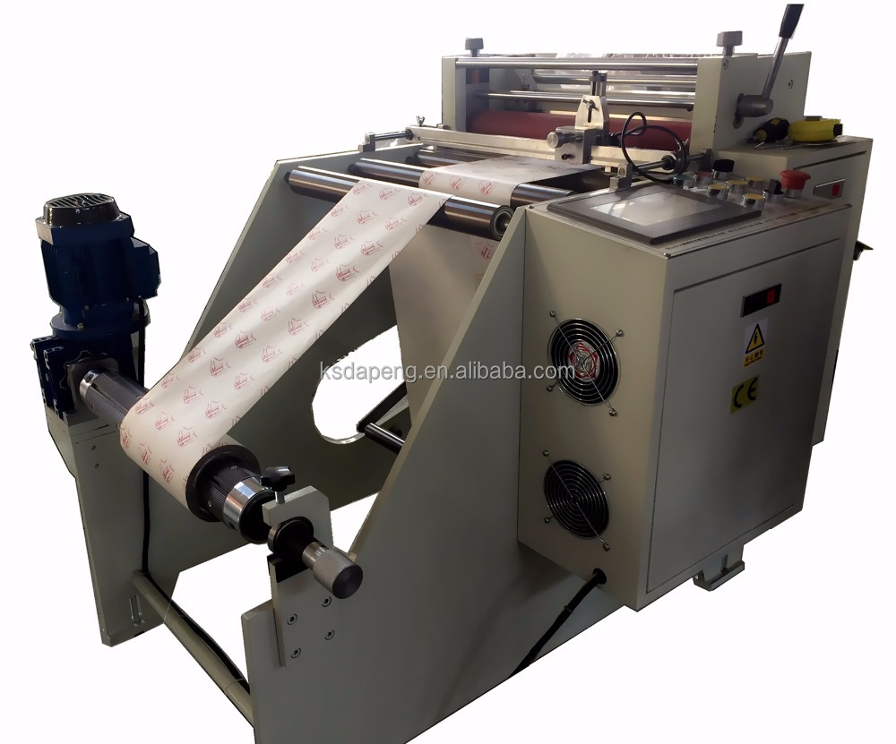 color printed paper roll to sheet cutting machine