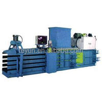 HPA-125 automatic horizontal manual strapping baler machine for baling paper cardboard