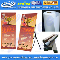 2015 Hot sale yuanyuan ECO-130MNL matt eco solvent water resistant tear resistant paper for standing system