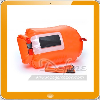 PVC Waterproof Dry Bag Roll Top Dry Sack with Visible Phone Pocket