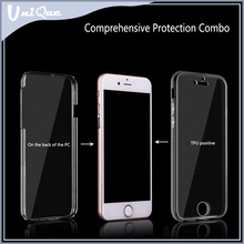 Free sample 2 in 1 separate detachable 100% clear TPU + PC cell phone case cover for Iphone 6s 4.7 inch / 6s plus