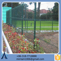 Made in China hot sale Hot dip clearvu fence / 3d cochrane fence / welded clearvu fence
