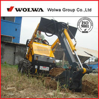 China rotary machine mini wheeled small garden tractor loader backhoe