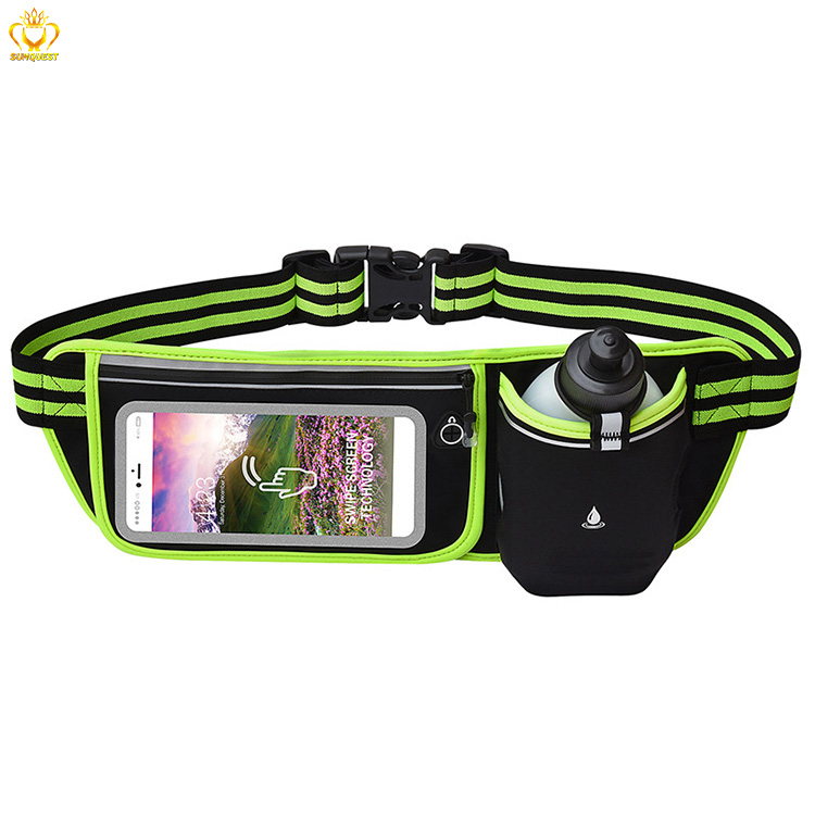 Fitness Waist Fanny Pack Water Bottle Running Belt Bag for Sports