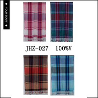 New arrival latest design plaid with fringe viscose hijab scarf