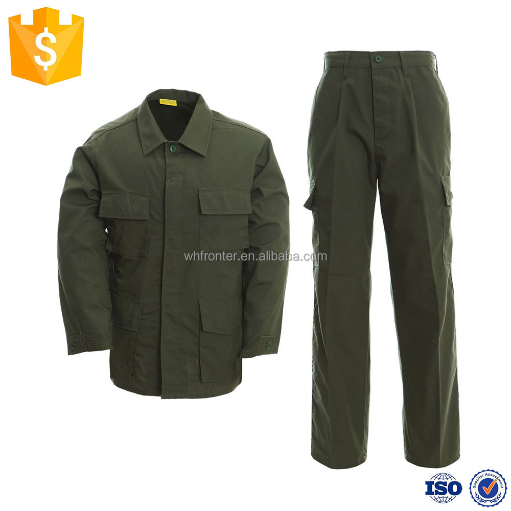 China supplier BDU olive green army uniform military