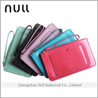 Hot Selling Candy Colorful Patent Leather Outside Pocket Zipper PU Wallet for Girl