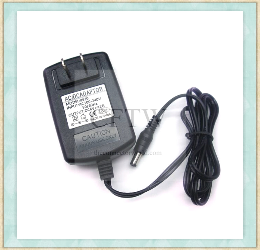 AC 220V/110V Input to DC 6V 2A 12W Voltage Transformer Switch Electronic blood pressure monitor power supply