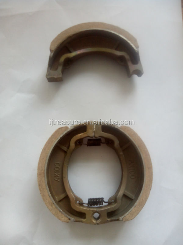 motorcycles spare parts brake shoe materials