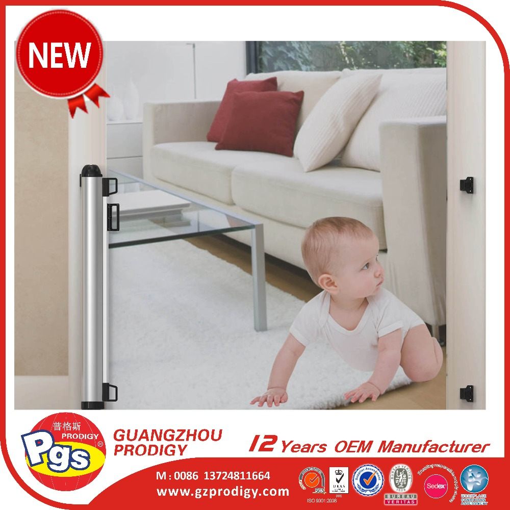 Easy to install home door Safety Gate baby retractable gate