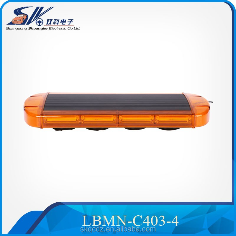 COB Mini Amber & White Emergency Vehicle Ambulance Truck Strobe warning Light Bar