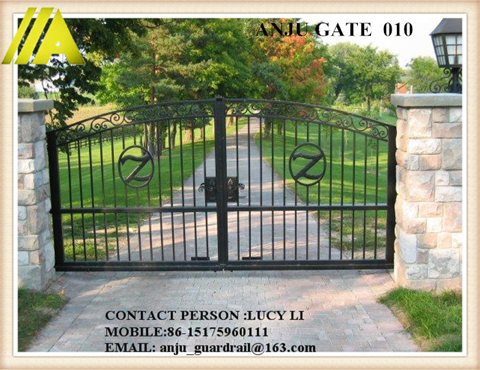 ANJU steel Gate-010 cassical best-selling iron gate door prices