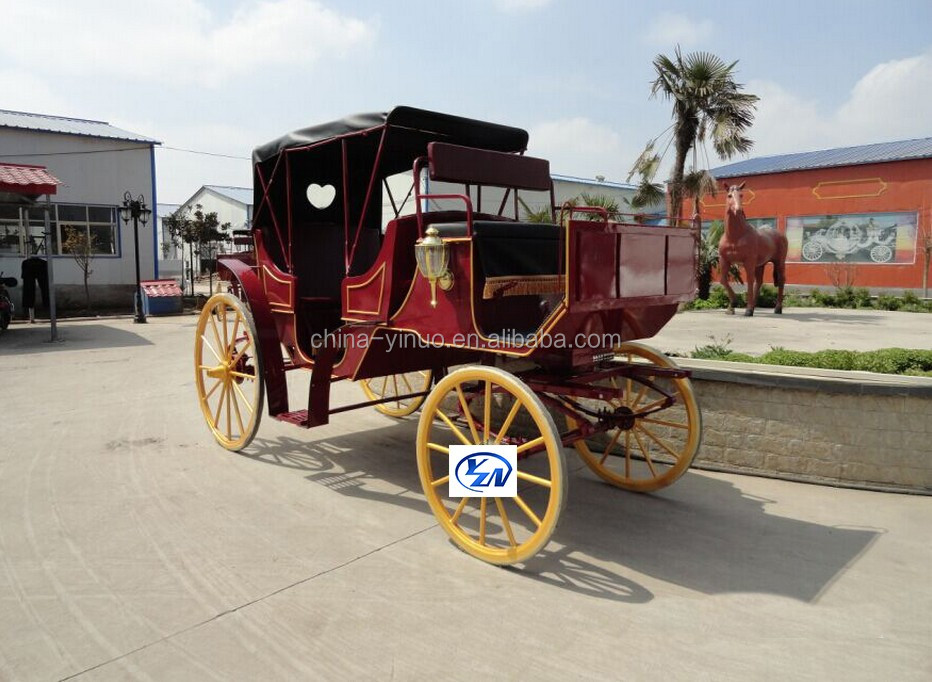 Yizhinuo Sightseeing horse carriage for event, business, wedding horse drawn wagon