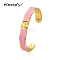 B Letter Enamel Hand Bangles Gold Plated Bangles And Bracelets Jewellery