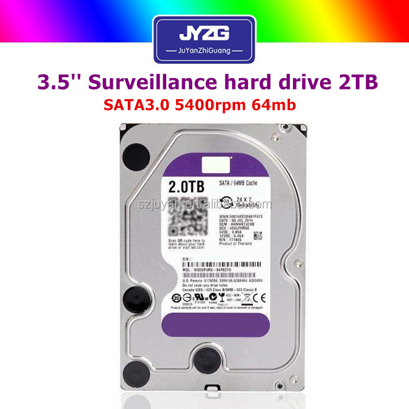 "Bulk hdd 2tb 3.5""sata used hard disk 2tb for Surveillance Hdd"