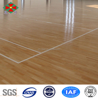 Light color smooth or matt surface Oak wood used basketball sport Court Flooring