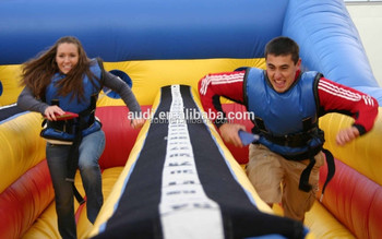 Inflatable bungee run sport game for sale