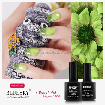 Bluesky temperature change color nail gel,pofessional uv gel polish