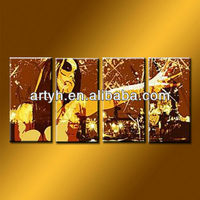 Handmade Group Wall Canvas Art Womens Oil Painting Hot Sex Images
