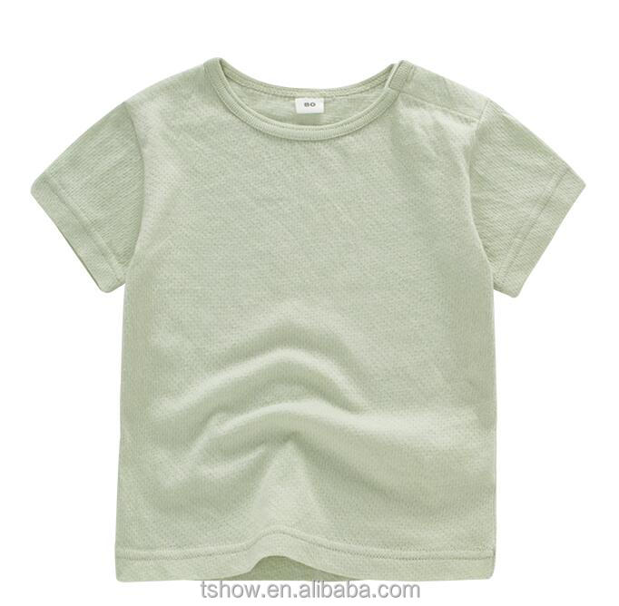 super soft quality kids organic cotton round neck T-shirts custom with your own logo
