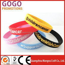 Popular gift colorful silicone wristbands with custom logo for sale, custom individual character silicone wristband