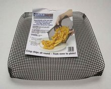 Non-stick Reusable Chips and fries cooking mesh oven crisper mesh tray