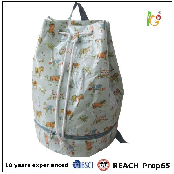 Hot sale lady drawstring backpack for promotion