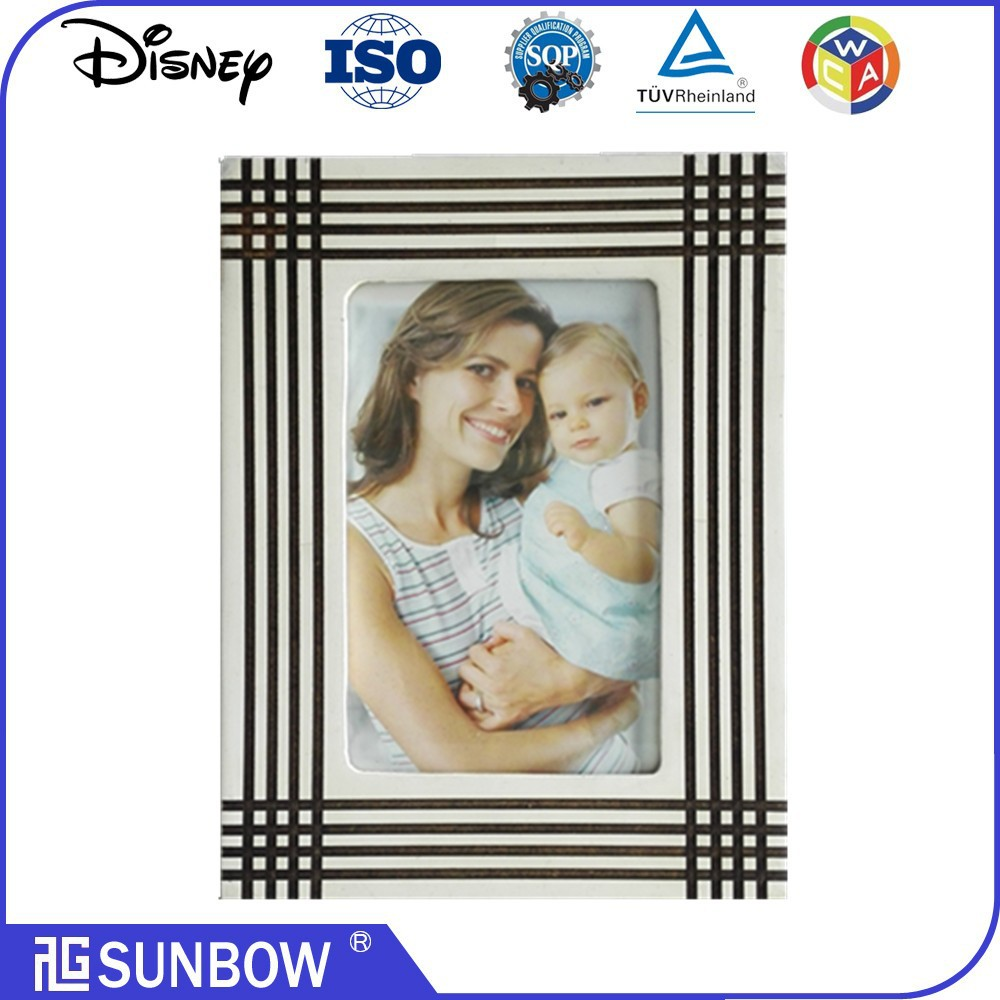 "wholesale 4*6"" mother and baby photo frame mdf wood board photo frame embellish frame mdf plaque"