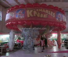 Custom inflatable carousel/merry-go-round/whirligig for advertising/promotional/event/party/exhibition/trade display DECOR W955