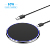QI certification 10W round single wireless charger pad, plastic QI certified fast wireless charging pad factory