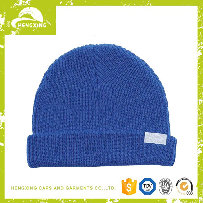 Custom Cheap Benie Hat Knitting Pattern Mens Hat Teenagers Knitted Beanie Hat