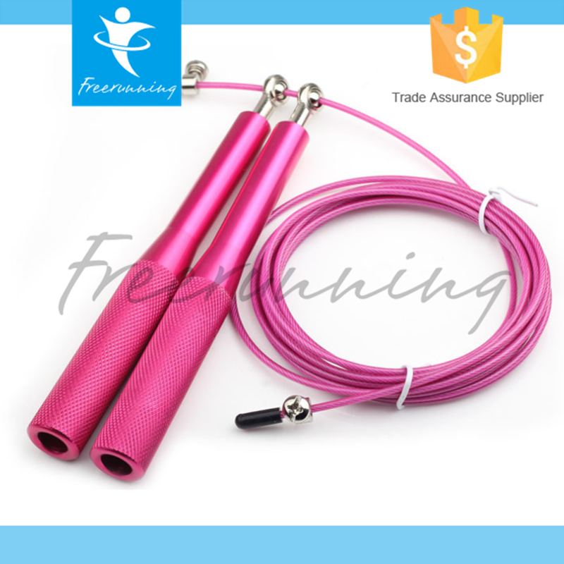 Adjustable Aluminum Handle Speed Exercise Jump Rope With Bag