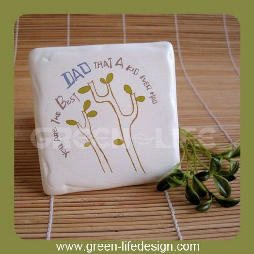 Polyresin handcraft gift Coaster for coffee mug
