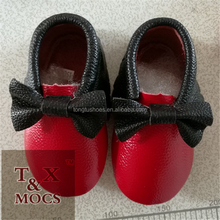 wholesale shoes baby moccasins soft cow leather red bottom shoes baby for soft sole baby shoes