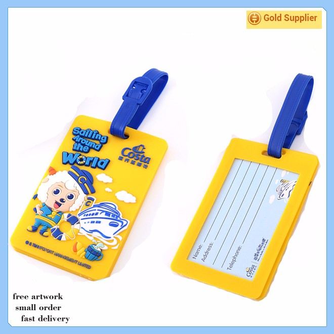soft PVC leather travel luggage tag