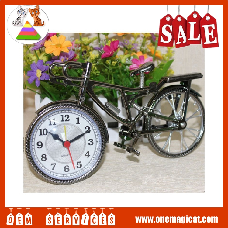 Hot selling popular Olympics sports style bicycle shaped unique desk clock