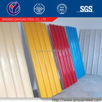 factory price all ral color galvanized prepainted corrugated steel roofing sheet