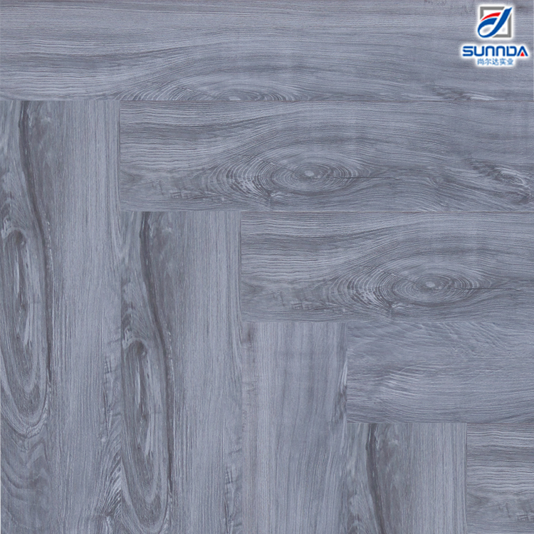 6 in. x 32 in. Kitchen and Bathroom Best Grey Wood Effect Rustic Glazed Ceramic Flooring and Wall Tiles