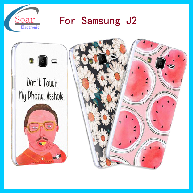 custom printing design decorate plastic mobile cell phone case cover shell for samsung Galaxy j2 case