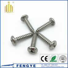 stainless steel 304 pan head phillips self tapping screw
