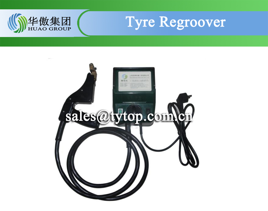 tyre regroover tool with square blade