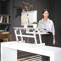 Standing Desk - the DeskRiser - Height Adjustable Sit Stand Up Dual Monitor Office Desk